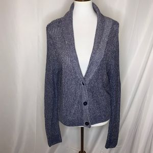 American Eagle Outfitters Blue Cardigan Sweater